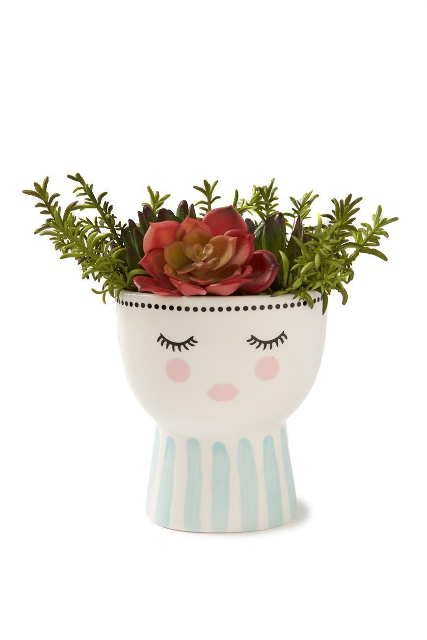 Printed Face Vase Face Vase Painted Pots Diy Face Planters