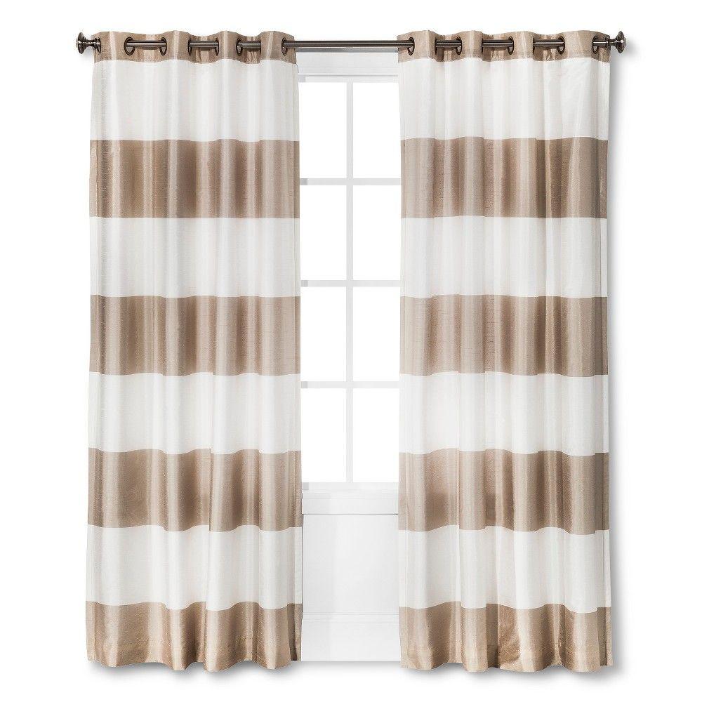 Bold Curtain Panel Tan (54x95\'\') - Threshold   Bold curtains and ...