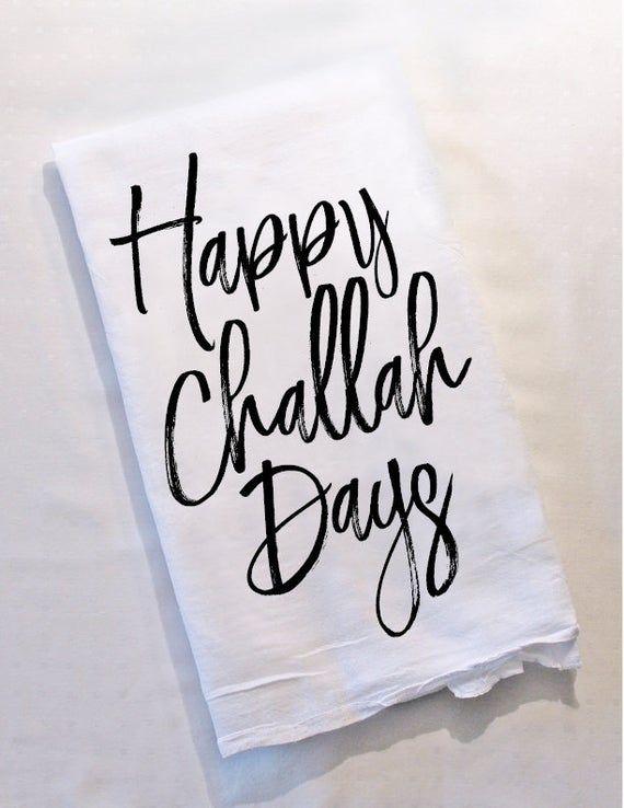 Personalized Hanukkah Dish Towel Jewish Gift Challah Days Fun Tea Towel Hanukkah Decor Hostess Gift #dishtowels