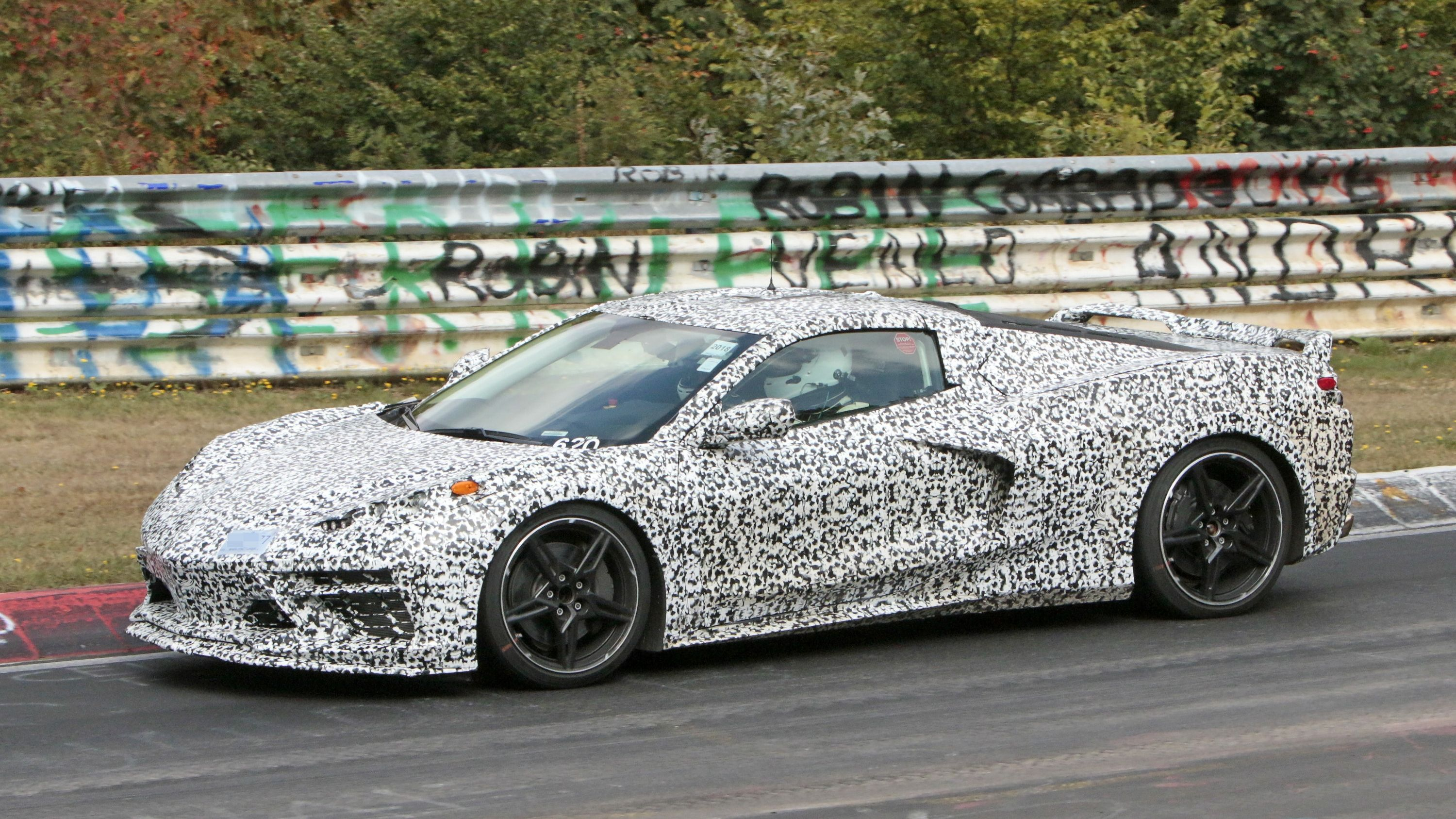 Mid Engined Chevrolet Corvette C8 Caught Testing At Nurburgring