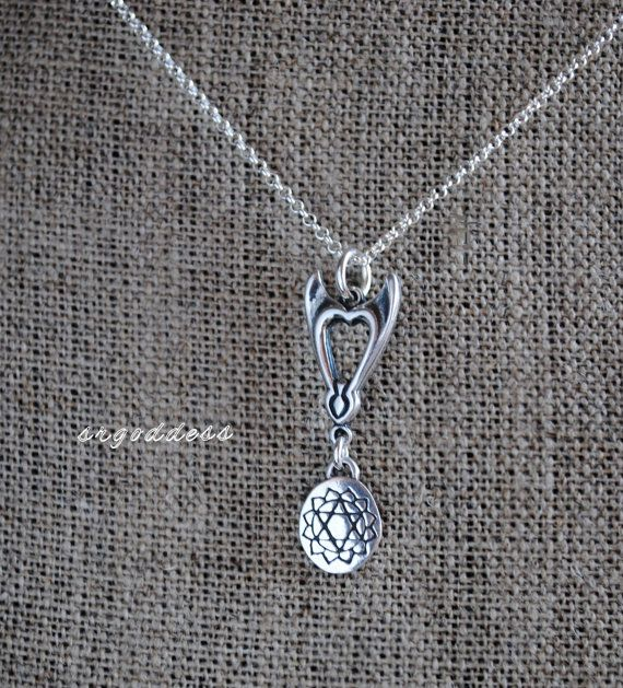 HEART CHAKRA Sacred Geometry all sterling silver by srgoddess