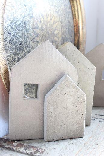 Artisserie beton 3 und 2d-formen selber herstellen - häuser schritt