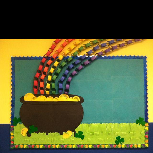 Leprechaun Classroom Visit Ideas : Wishful thinking st patrick s day bulletin board idea