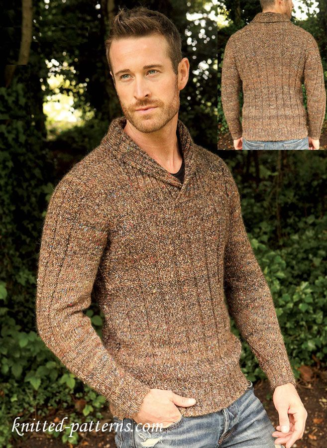 Men\'s jumper: free knitting pattern | Free knitting patterns ...