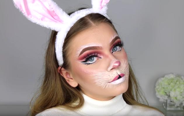 Animal Makeup For Halloween Thelatestfashiontrends Com Bunny Halloween Makeup Halloween Makeup Looks Animal Makeup