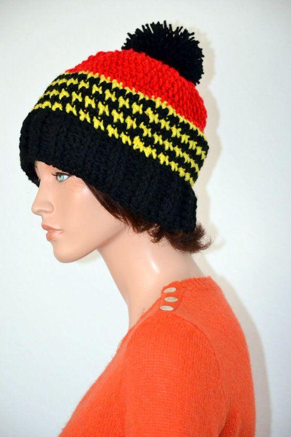 Uganda Beanie Hat/ Unisex Beanie Hat/ Pan African Beanie/ Soccer fan ...