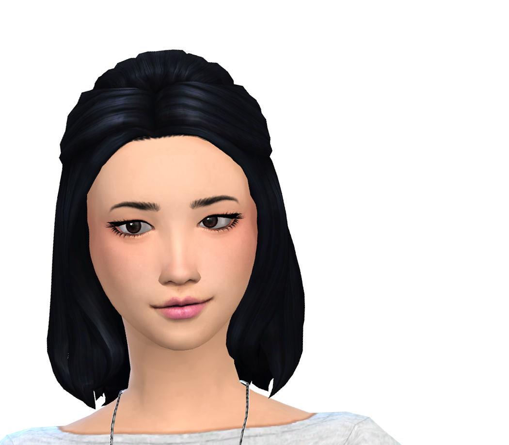 The sims 4 hairstyles cc - The Sims 4 Nyloa Less Poofy Edit Of Kiara24 My Stuff Downy Hairstyle