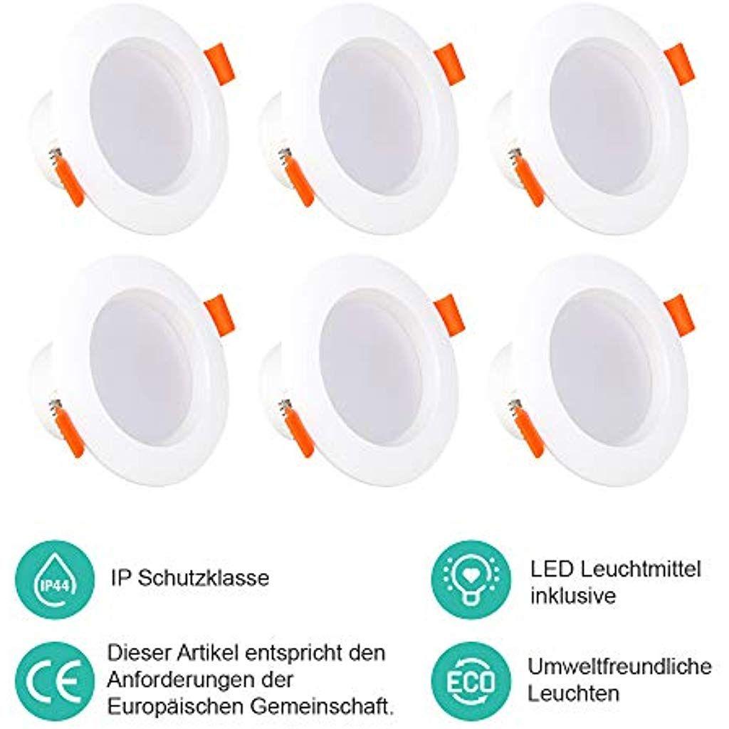 Elldue Led Einbauleuchte Verfarben 5 W 3000 5000k 480 Lumens 230v Runde Ip44 Downlights Fur Flur Bad Buhne U In 2020 Led Beleuchtung Einbauleuchten Beleuchtung