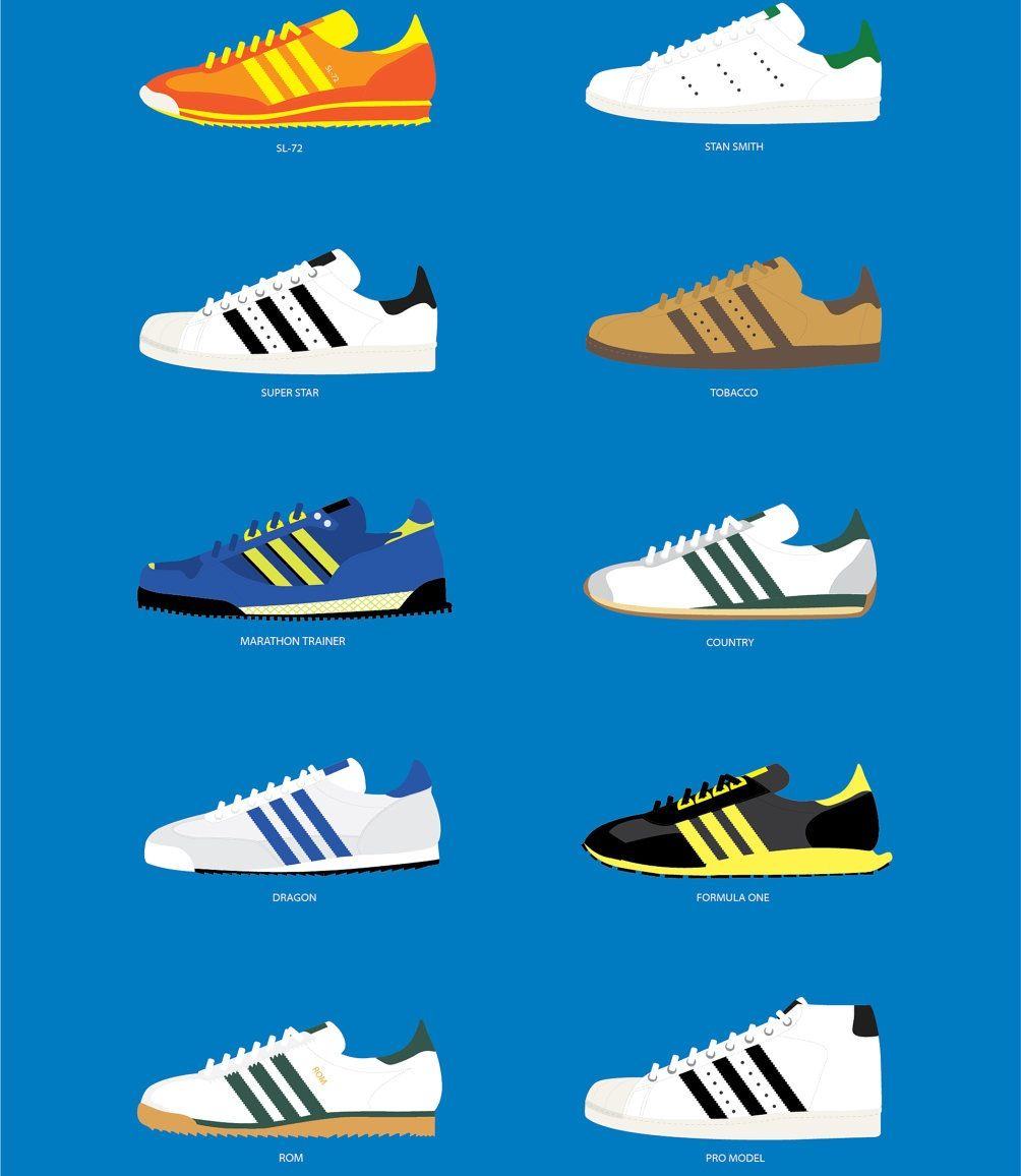 Adidas · Shoe IllustrationAdidas OriginalsLogo DesignSneakersWallpaperVintage  ...