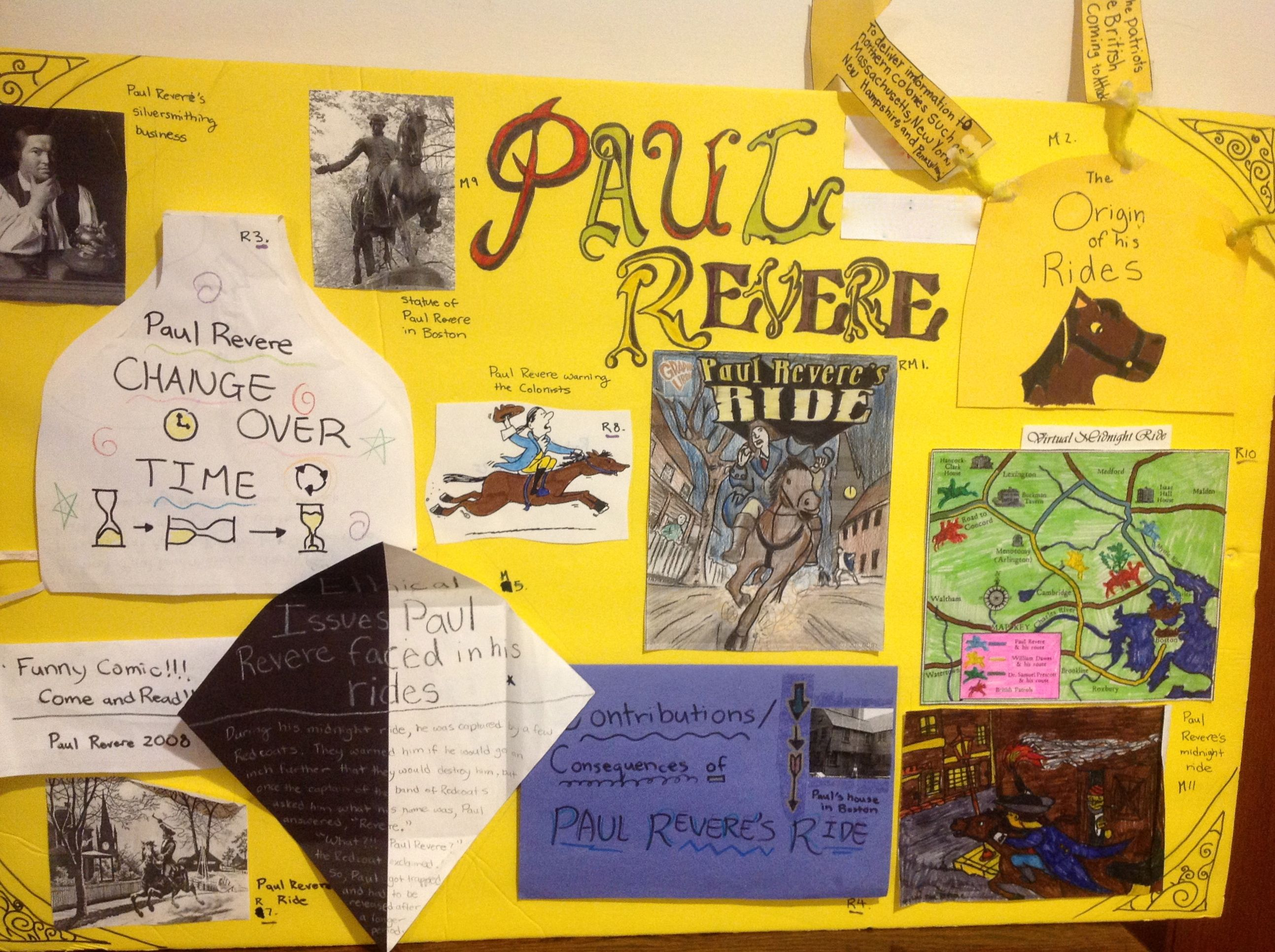 Image Of Paul Revere Poster Depth And Complexity Classroom Gifts Critical Thinking 3rd Grade Social Studies