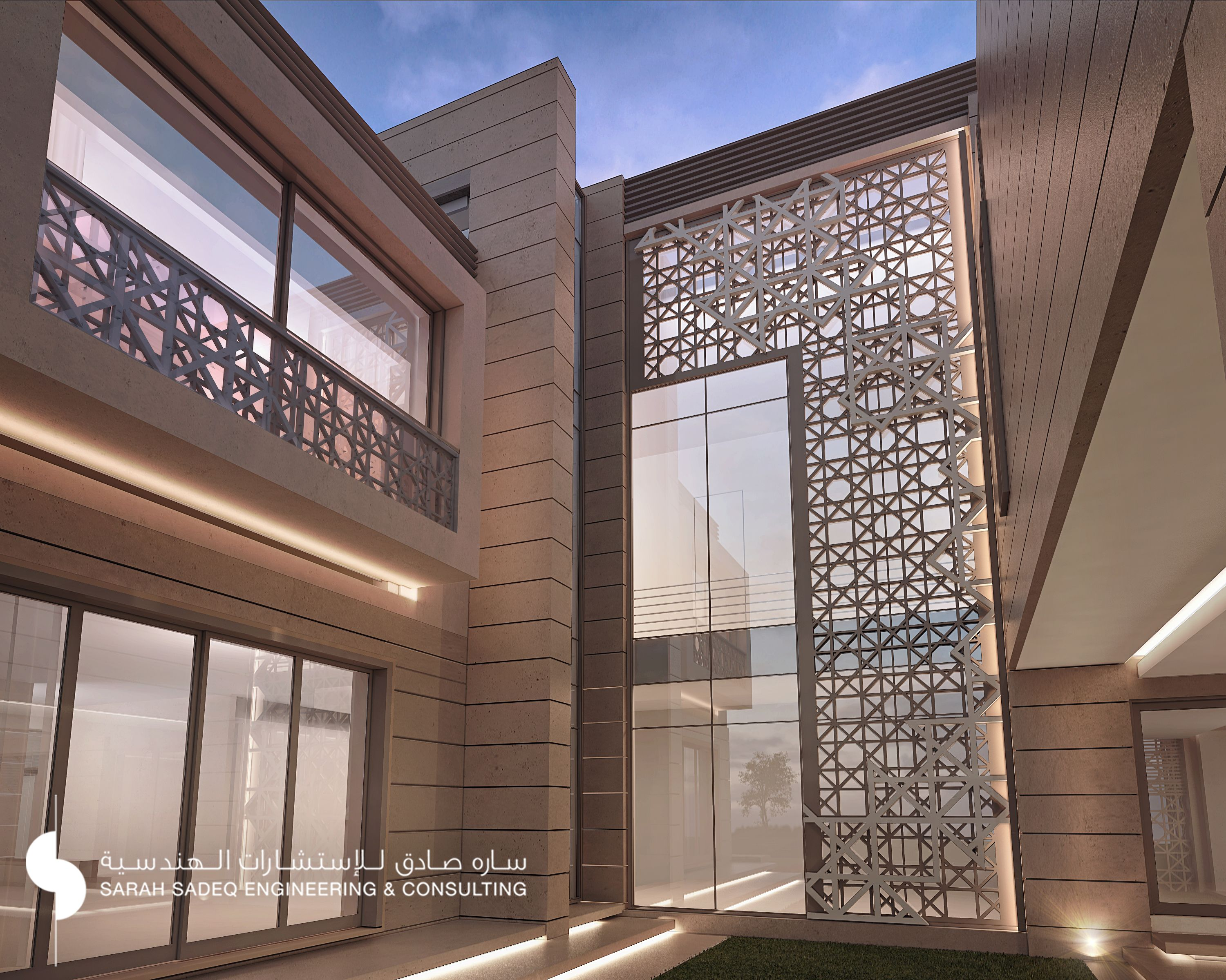 Luxury saudi arabian villa 3d front elevation house gallery for front - Private Villa Kuwait 1000 M Sarah Sadeq Aarchitects