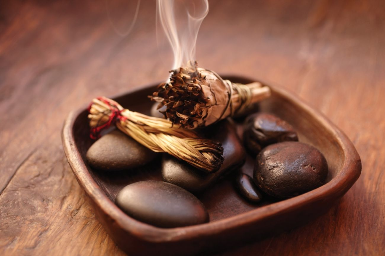 Mystics say the Native American practice of smudging, or
