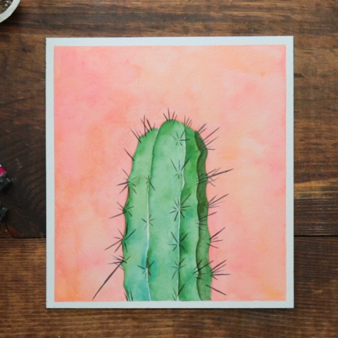 Cactus Porn Dibujo are you a sucker for succulents? this cactus watercolor is