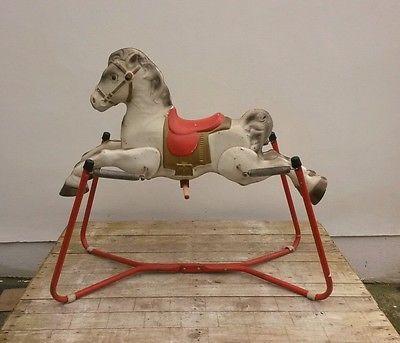 Vintage Mobo Prairie King Metal Rocking Horse Childs Vintage Toys Large Classic Toys Vintage Toys Rocking Horse
