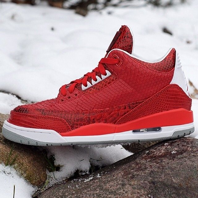 Cheap Quality Nike Jordan 4 Cheap sale Red Python by JBF Customs