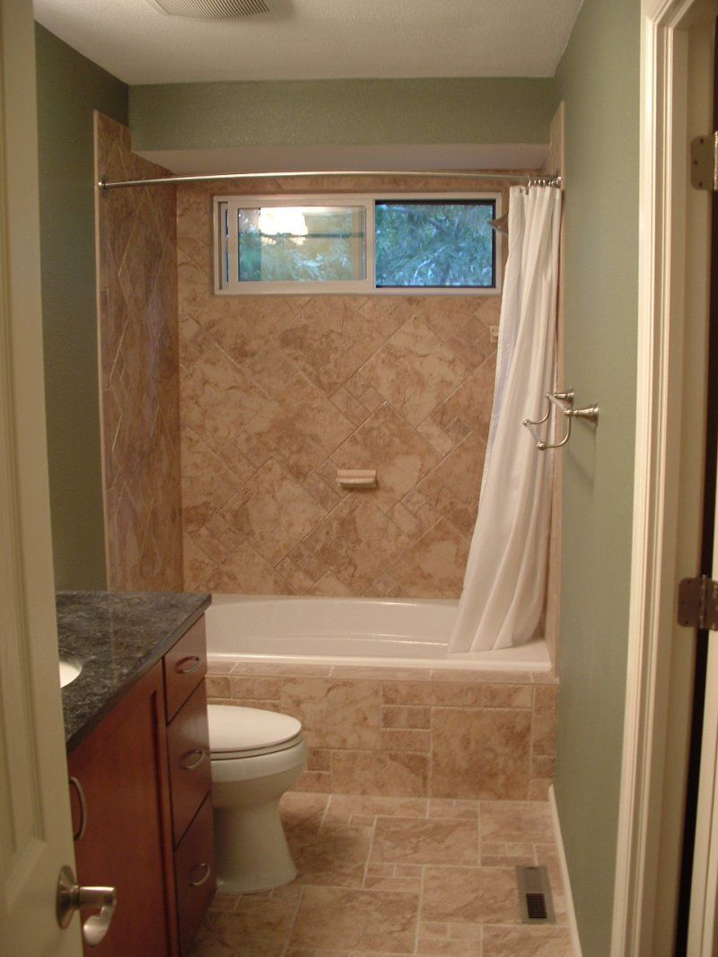 25 small bathrooms design inspiration white shower for Fast bathroom remodel