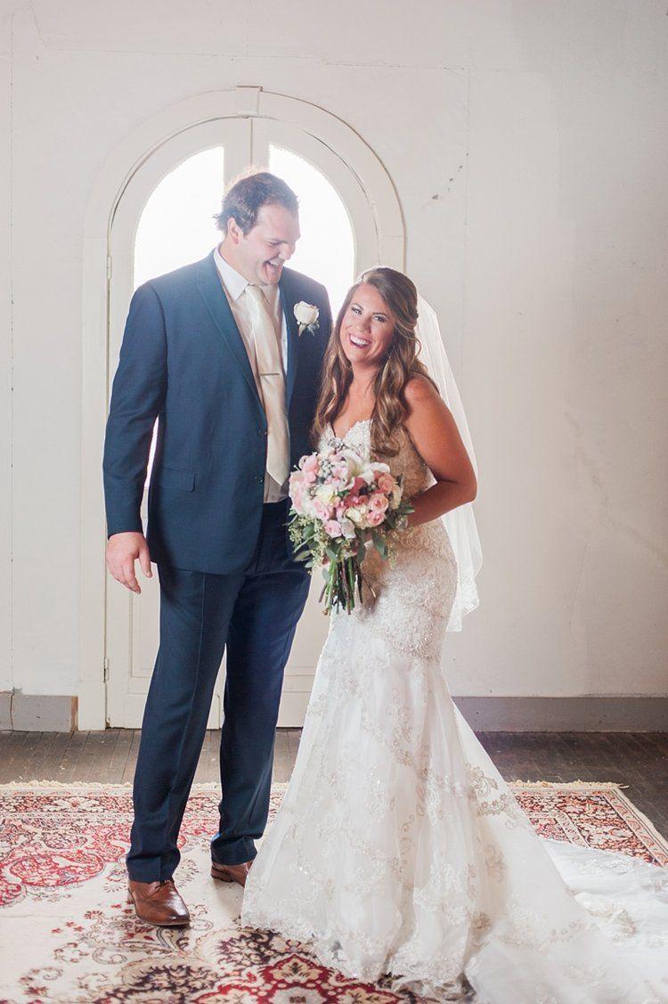 Mr Mrs Wray A Glamorous Blush Wedding At The Ice House In Jackson Mississippi Jackson Ms Wedding Lifestyle Photographer Amelia Catherine Co Warehouse Wedding Blush Wedding Wedding