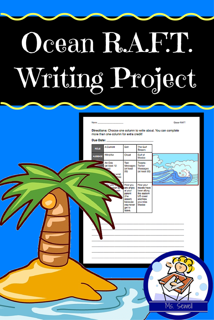 In This R A F T Writing Assignment Students Write Pretending To Be An Ocean Current Salt Or The Gulf St Writing Project Free Science Lesson Science Lessons [ 1102 x 735 Pixel ]