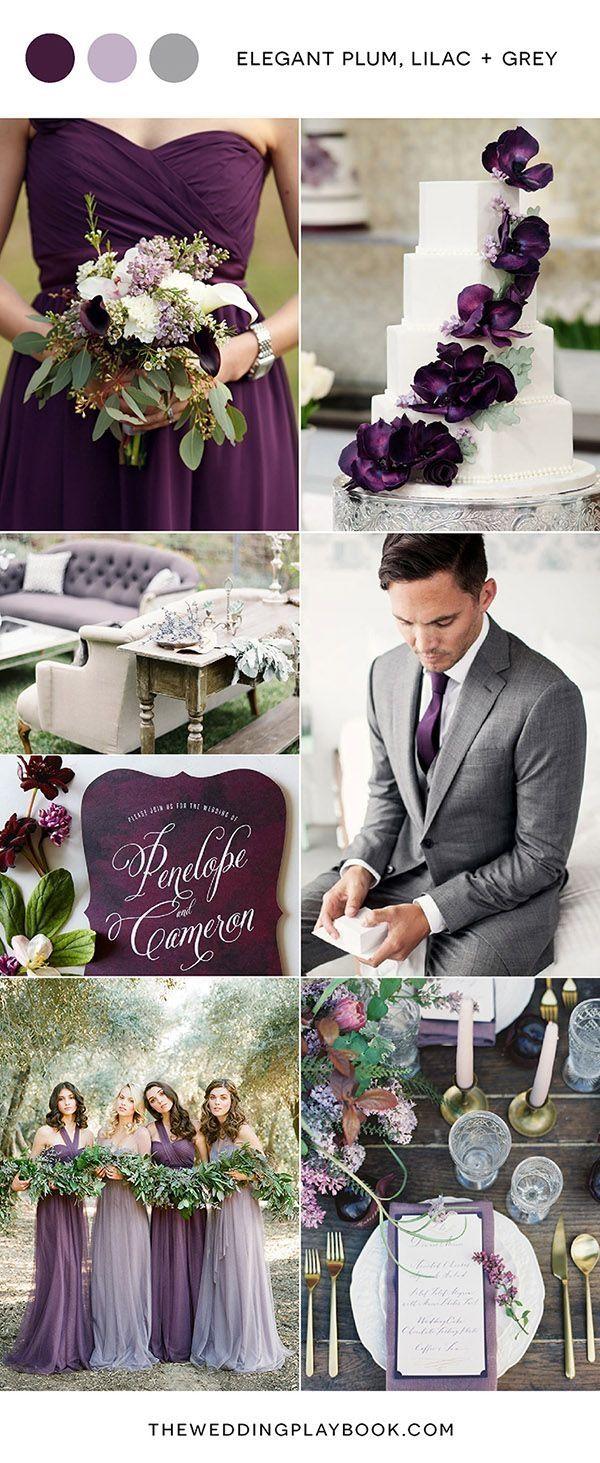 elegant plum lilac and gray wedding color ideasmakia55