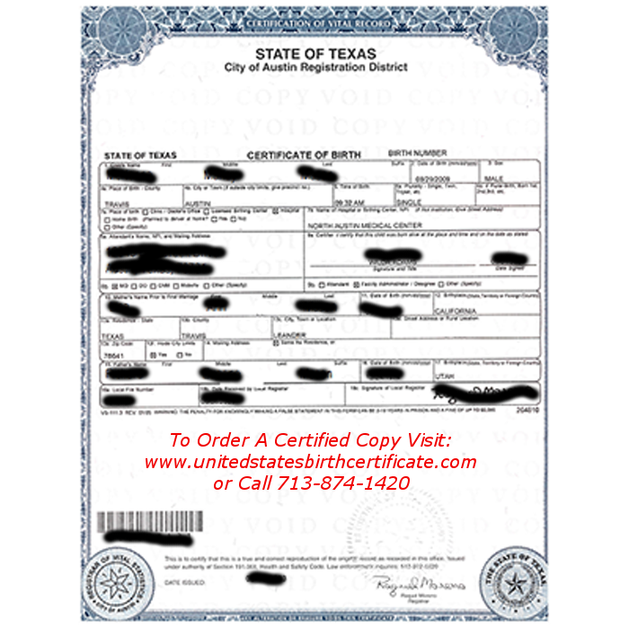 how to get your birth certificate in texas