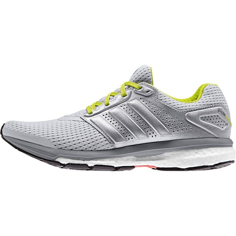 40365a3d7 adidas Women s Supernova Glide Boost 7 Running Shoe - light grey  heather silver met. semi solar yellow B40367