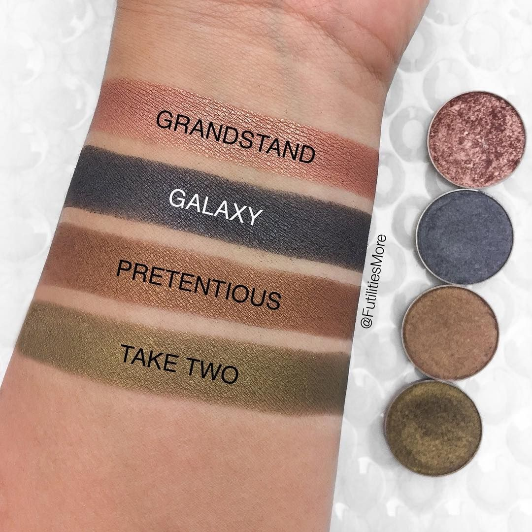 Makeup Geek Eyeshadow Swatches Of Grandstand Galaxy Pretentious And Take Two Picture By F Makeup Geek Eyeshadow Makeup Geek Makeup Geek Eyeshadow Swatches