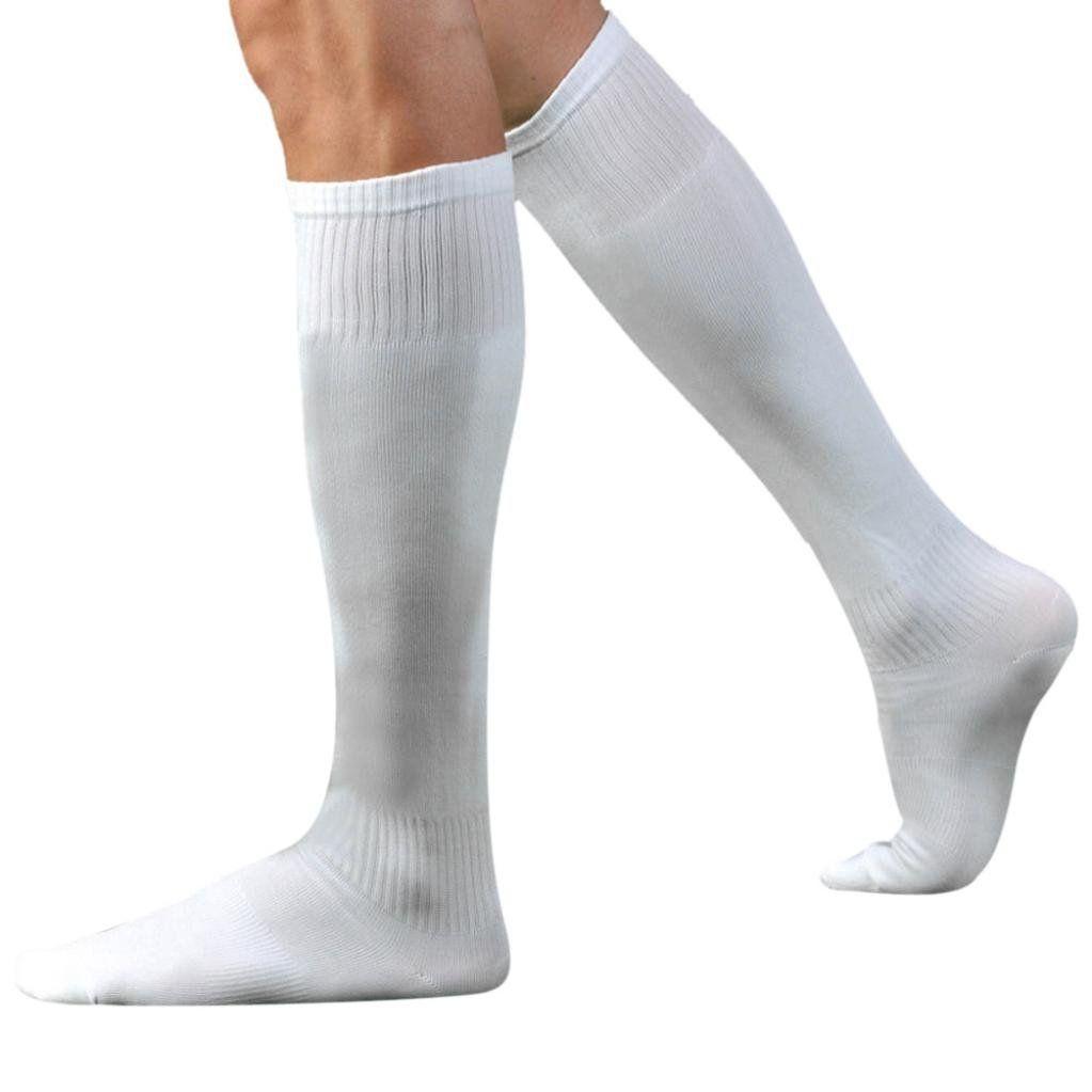 Gbsell Men Sport Football Soccer Long Socks Over Knee High Sock Baseball Hockey White Check Out The Image By Visi Long Socks Mens Sports Socks Soccer Socks