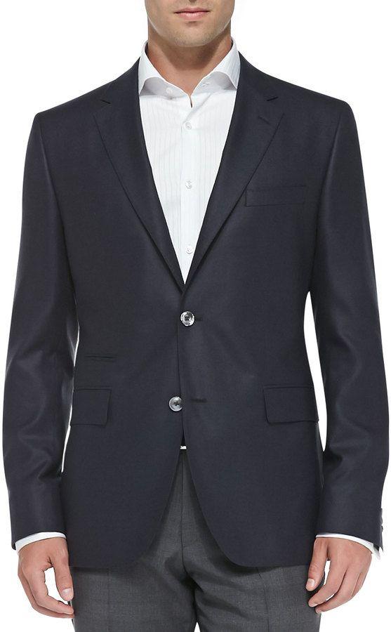 859614aa68c Boss Hugo Boss Two-Button Silk Suit Jacket, Navy | Modern Gentleman ...