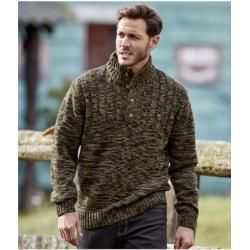 Photo of Strickpullover Winter mit geknöpftem Kragen Atlas For Men