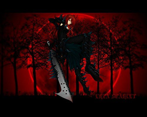 Fairy Tail Poster Erza Anime Japanese Wall Print Art Deco…