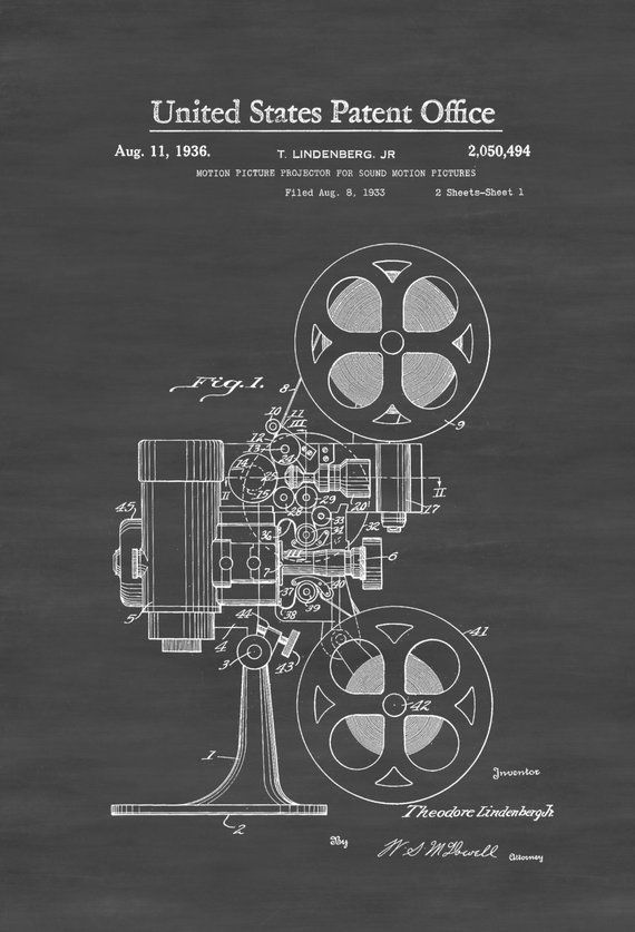 Movie projector patent print poster home theater decor movi hometheaterdiy also rh in pinterest