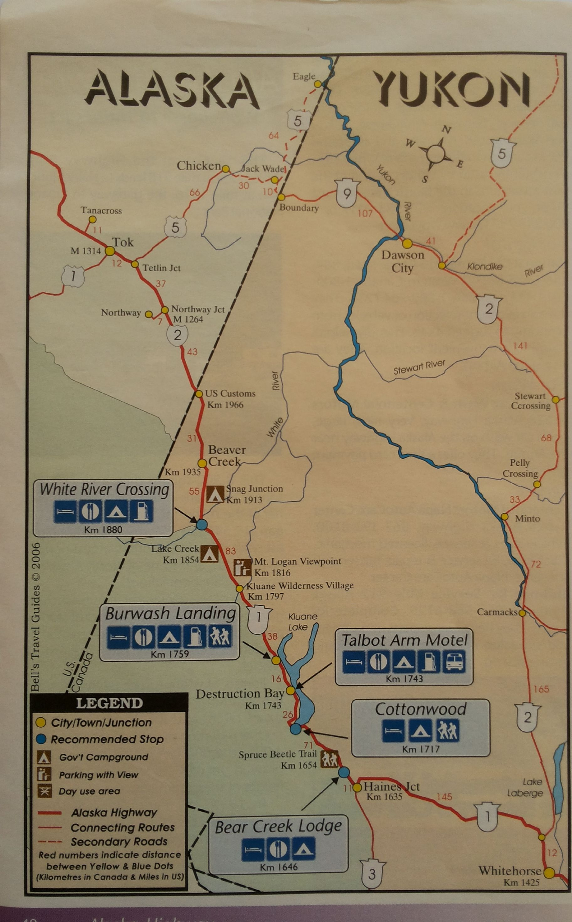 Alaska Yukon Map Drive From Whitehorse To Inuvik Nw Territories