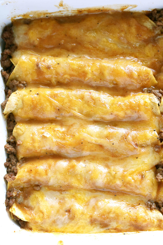 Tex Mex Beef Enchiladas Recipe Recipe Beef Enchilada Recipe Enchilada Recipes Recipes