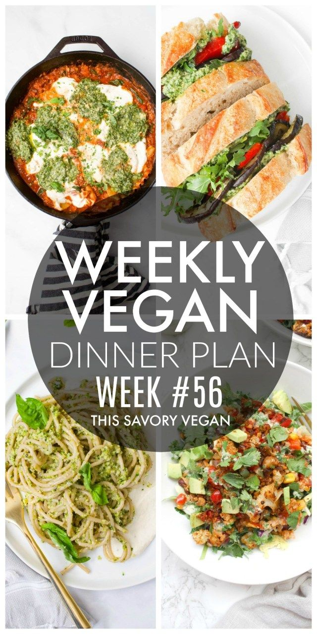 Weekly Vegan Dinner Plan 56