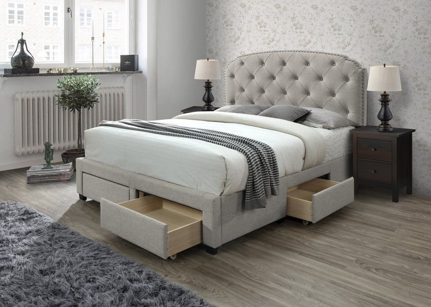 Abbingt Upholstered Storage Standard Bed Bed Frame With Storage Upholstered Panel Bed Bed With Drawers