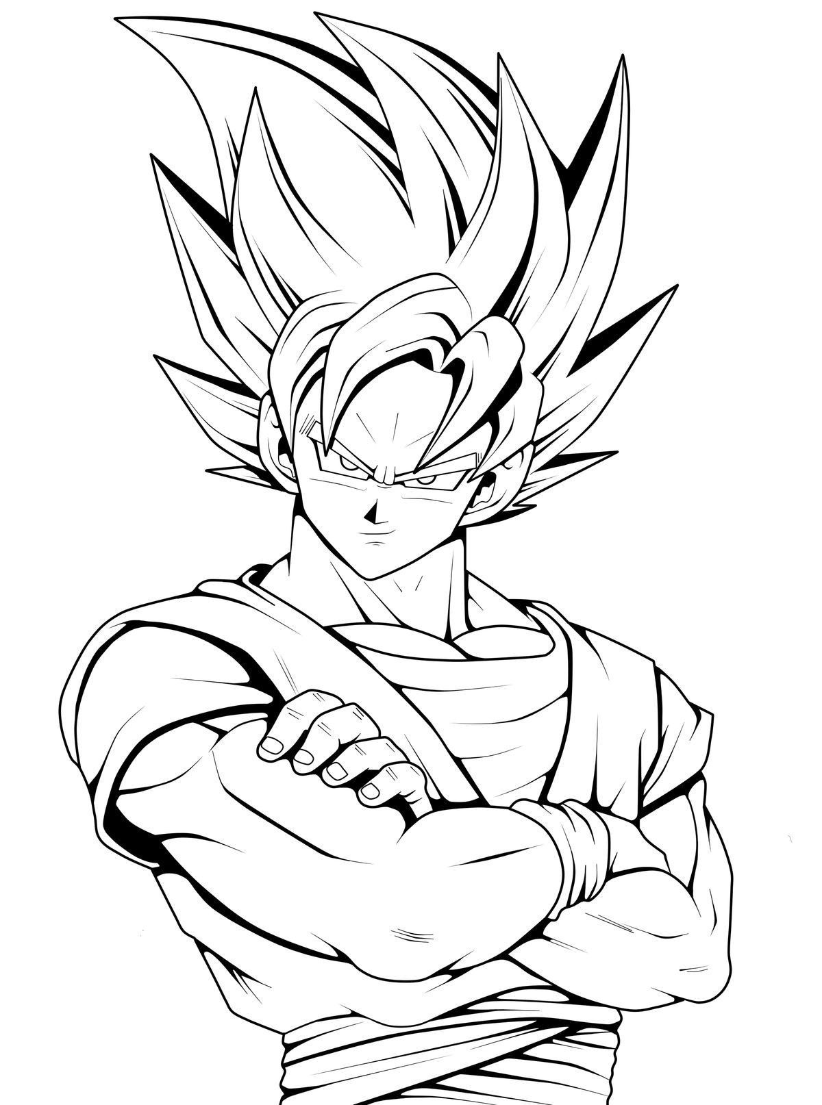 Nice 17 Dessin Dragon Ball Z Coloriage Sangoku Coloriage Dragon Coloriage Dragon Ball