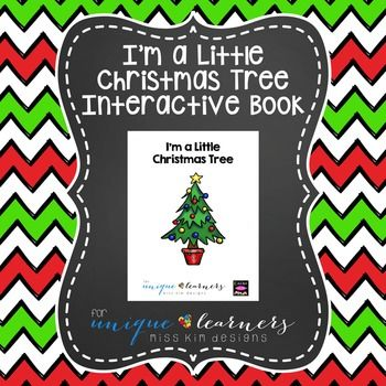 Designed for young children ages 3-5 with autism and/or intellectual delays, I'm a Little Christmas Tree is an eight page book (nine with cover) that comes in a printable .pdf file. The focus of the book is Christmas Trees and Christmas vocabulary.