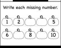 missing numbers halloween worksheet pumpkin worksheet - Halloween Numbers Printable