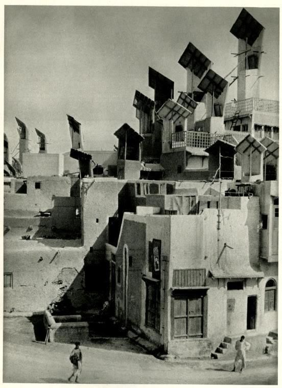 Hyderabad Pakistan 1933 Wind Catchers On The Houses Of