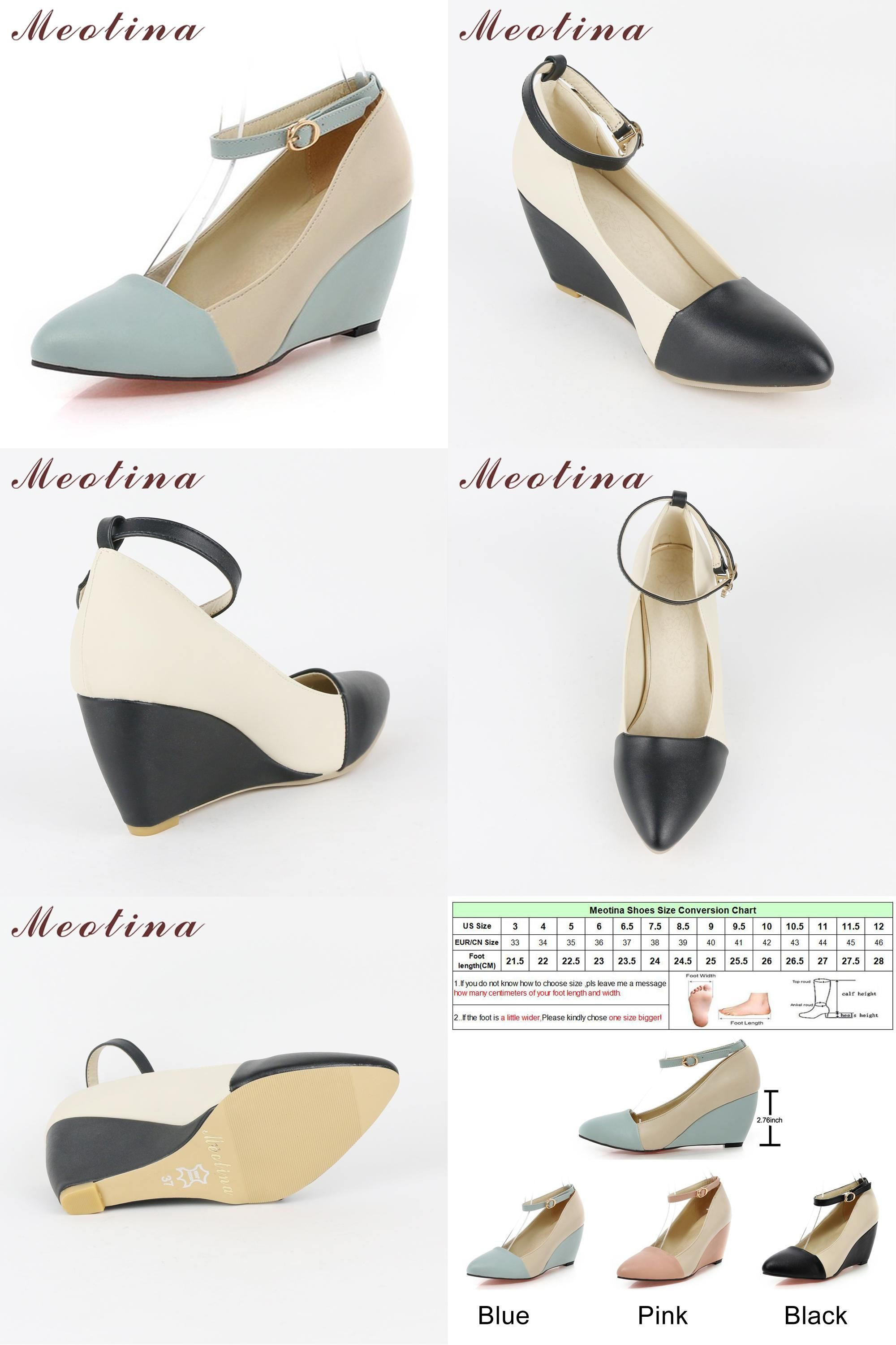 de1a4dc72f2879  Visit to Buy  Meotina Shoes Women Pumps Spring Autumn Pointed Toe Ankle  Strap High