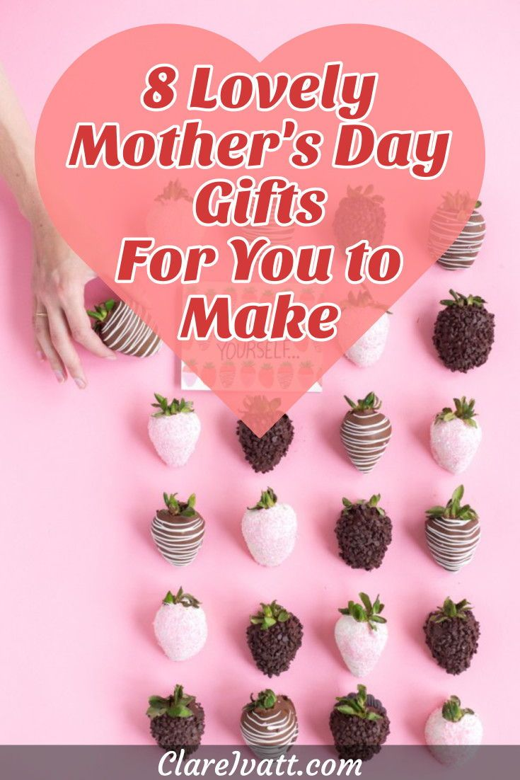 Here are 8 wonderful Mother's Day gifts you can make yourself.  Mother's Day crafts are such special gifts because they're made with love - and kids of all ages love to make them for their Moms! #mothersday #mothersdaycrafts #mothersdaycraftsforkids #crafts #diy