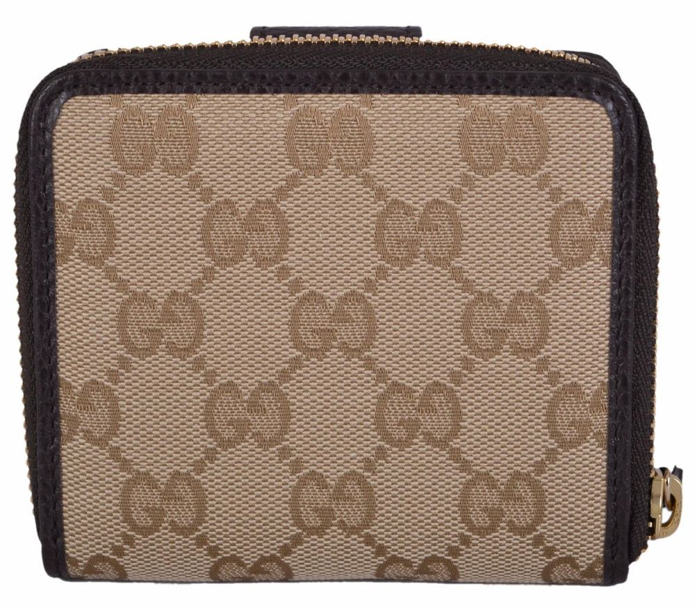 3853f594a3c New Gucci Women s 346056 Beige Canvas GG Guccissima French Zip Wallet  W Coin  Gucci  Bifold