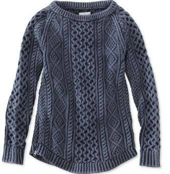 Women's Fisherman Sweater, Blue Cable, Fall Weather, Winter ...