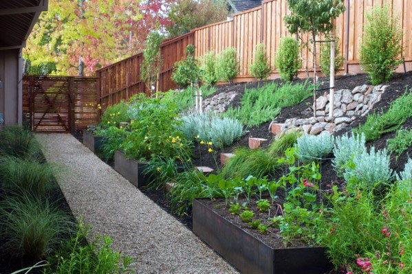 Sloped Backyard Ideas Steep Hillside Landscaping Ideas On A Budget