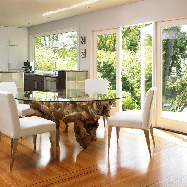 Baumstamm Tisch Modernes Design Bauanleitung Runde