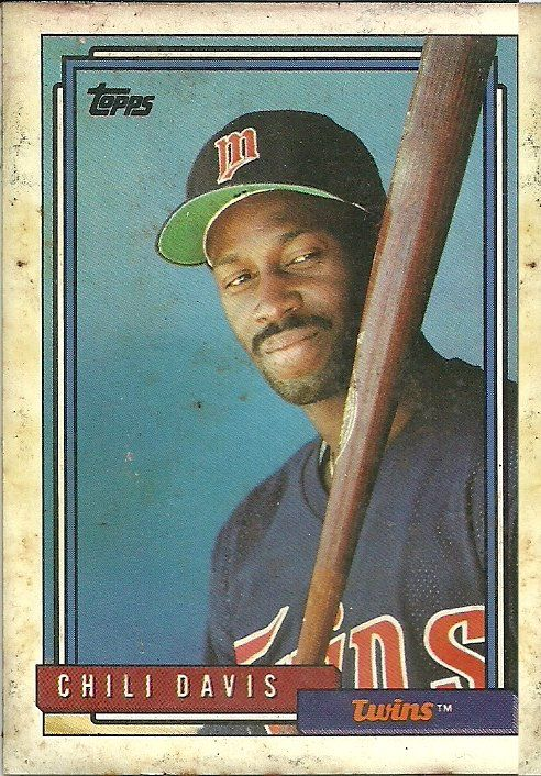 Google Image Result for http://www.twinsdugout.net/images/TwinsBaseballCards/ChiliDavis92ToppsFront.jpg