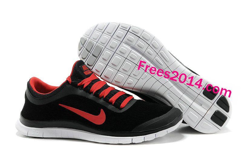 Shopjordans2013.com Wholesale Over Half off Mens Nike Free 3.0 V5 Suede  Black Sport Red