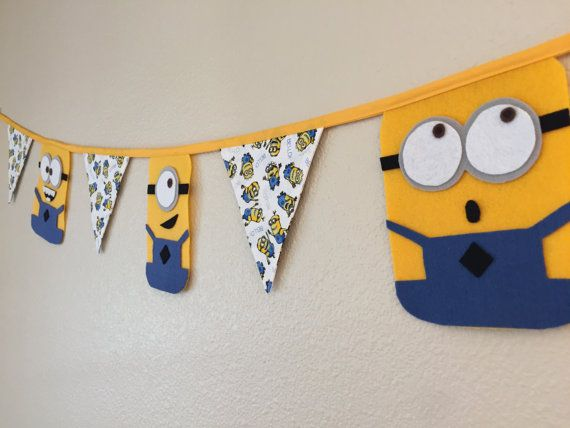 Minion Birthday Party Banner Diy Pinterest Minion