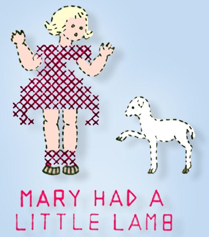 1940s Betty Burton Embroidery Uncut Transfer