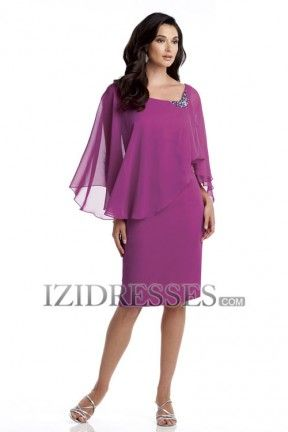 Sheath/Column High Neck Chiffon Mother of the Bride Dress ...